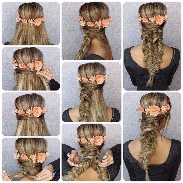2 peinados bonitos con trenzas para cabello largo - Tutorial de peinados ...