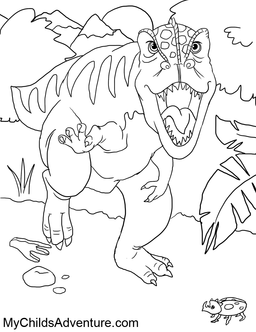dinosaur print out coloring pages - my childs adventure