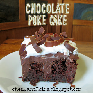 Chocolate Poke Cake by Cheng and 3 Kids