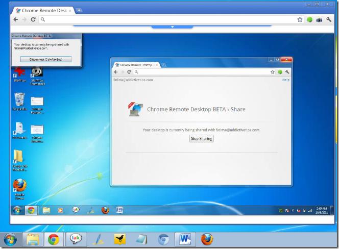 Chrome remote desktop beta connected png