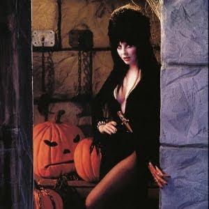 Elvira and her pumpkins