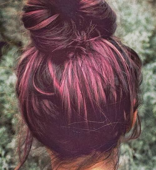 Plum Hair. If I had dark hair I would def consider this color, so cute