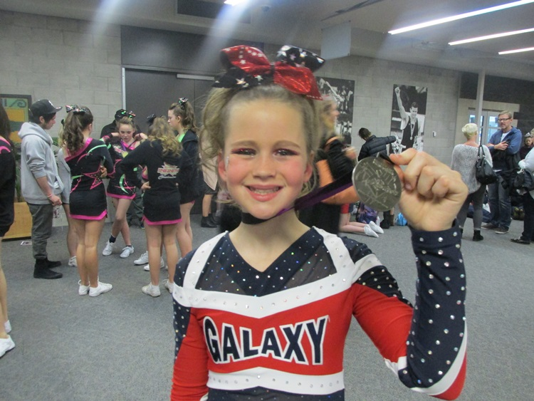 Silver medal - Capital Challenge Level one Cheerleading