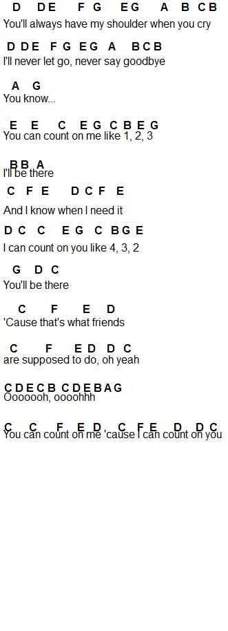 count on me easy piano pdf