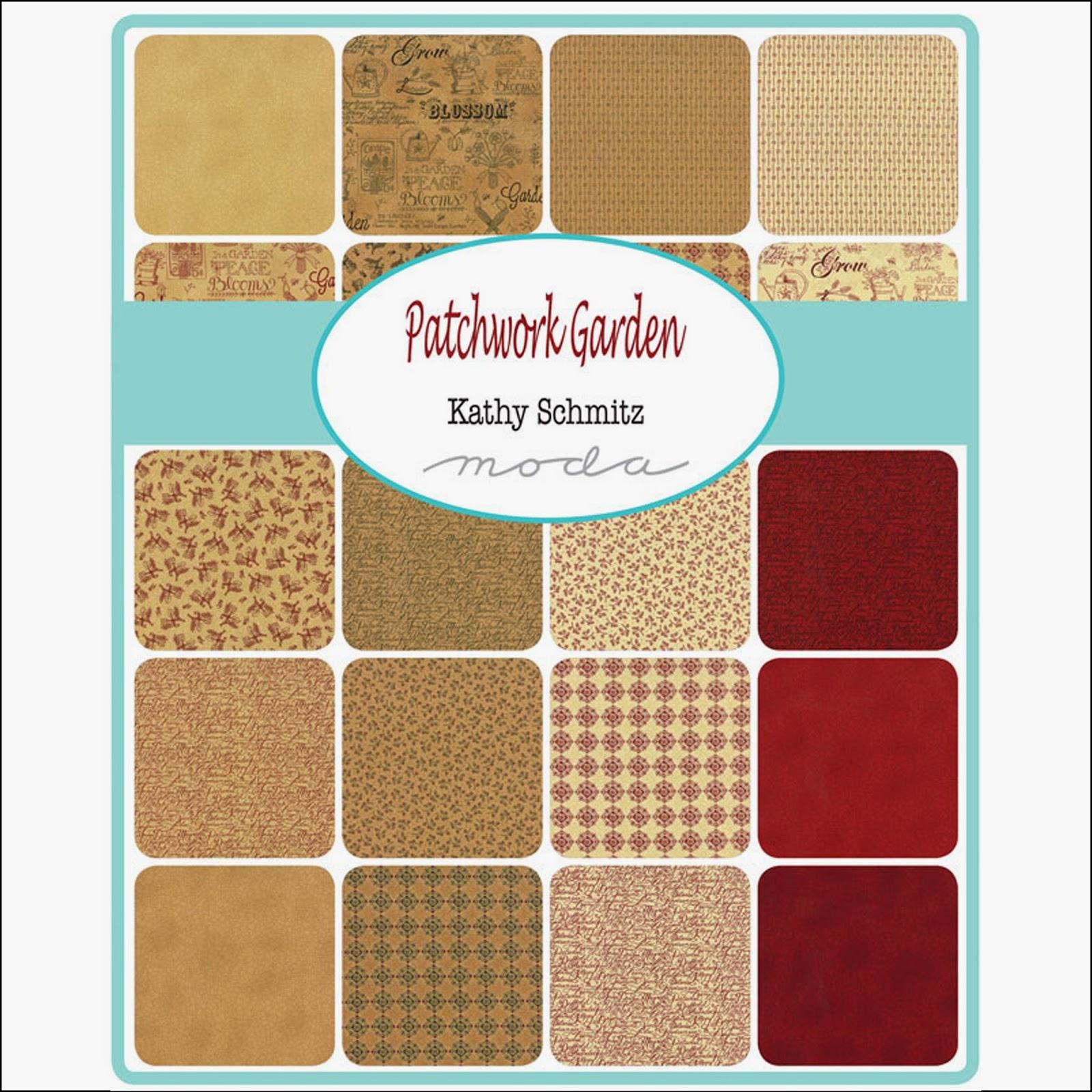 Moda PATCHWORK GARDEN Quilt Fabric by Kathy Schmitz for Moda Fabrics