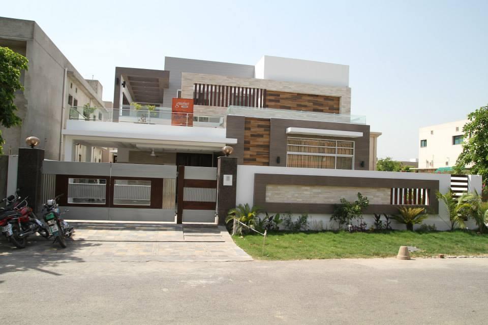 Plan Elevation Label : Kanal modern house for sale d front design