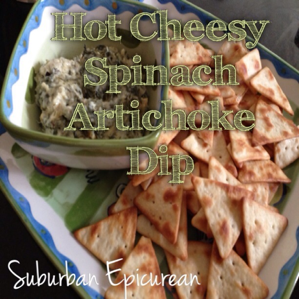 http://suburbanepicurean.blogspot.com/2013/09/hot-cheesy-spinach-and-artichoke-dip.html