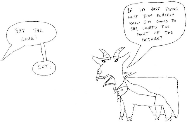 it's a vampiric goat failing to deliver his lines correctly