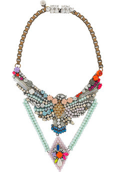 colorful statement necklaces, trend, fashion trend, trend-spotting, jewelry, Shourouk Phenix Alabaster Crystal Necklace