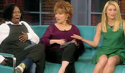 Joy Behar stares down Whoopi 'Cushion' Goldberg for letting the frogs out