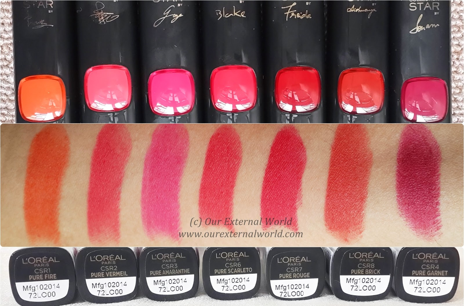 Loreal color caresse by color rich lipstick - L Oreal Paris Collection Star Range Pure Reds Review All 7 Lipsticks Swatches