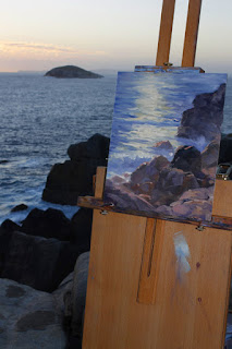 Rocky coast oil painting, The Gap, Albany. By Andy Dolphin.