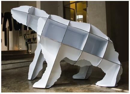 Rak buku beruang kutub