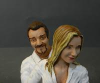 statuine sposi somiglianti personalizzate originali ritratti orme magiche