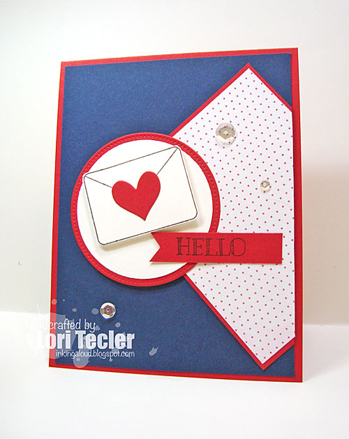 Hello card-designed by Lori Tecler/Inking Aloud-stamps from Verve Stamps