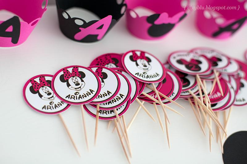 stegulete prajituri Minnie Mouse, Minnie roz