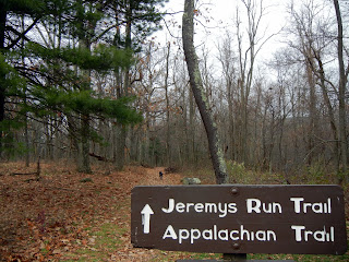 Jeremy's Run trail head in Shenandoah National Park