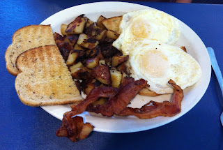 Photo of Simple Simon's 2 eggs (over hard), toast, ham, & home fries by Don Taylor