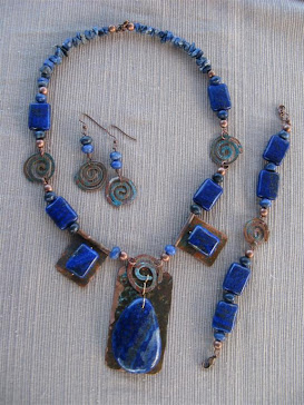Lapis and Copper Set