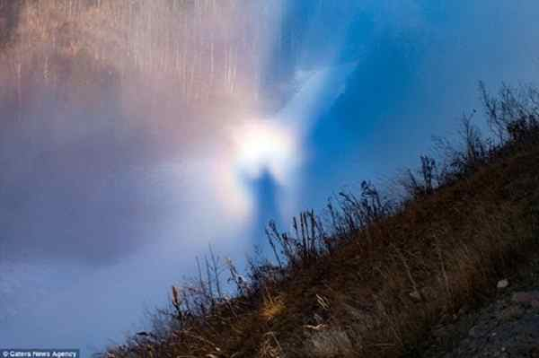 Hình ảnh thiên thần bất ngờ xuất hiện trên bầu trời Na Uy