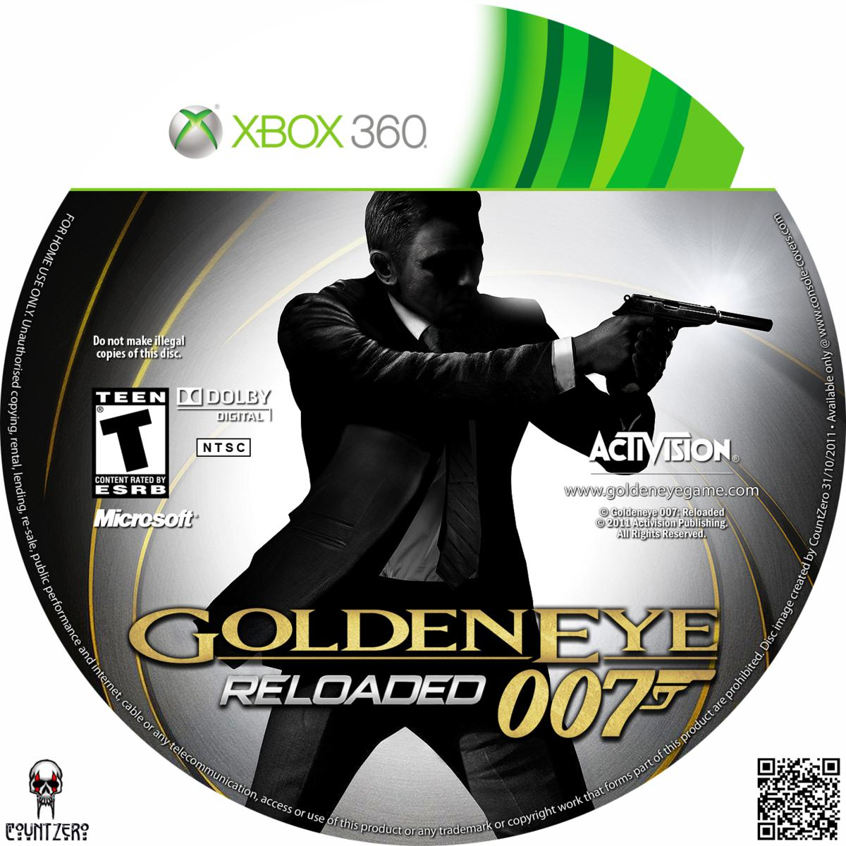 Label Goldeneye 007 Reloaded Xbox 360
