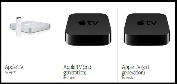 Apple TV 1 Vs 2 Vs 3