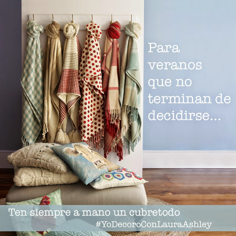 Cubretodos, Mantas, Cojines - Decoración Laura Ashley