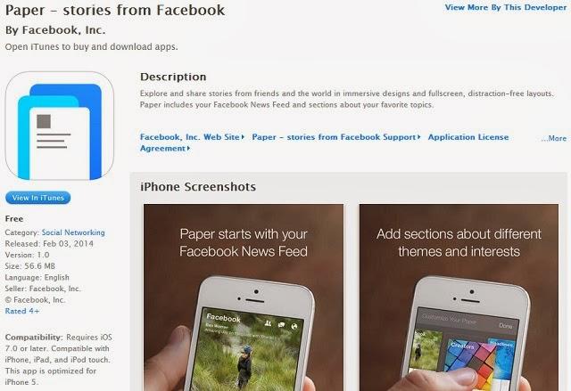 Facebook Paper Store