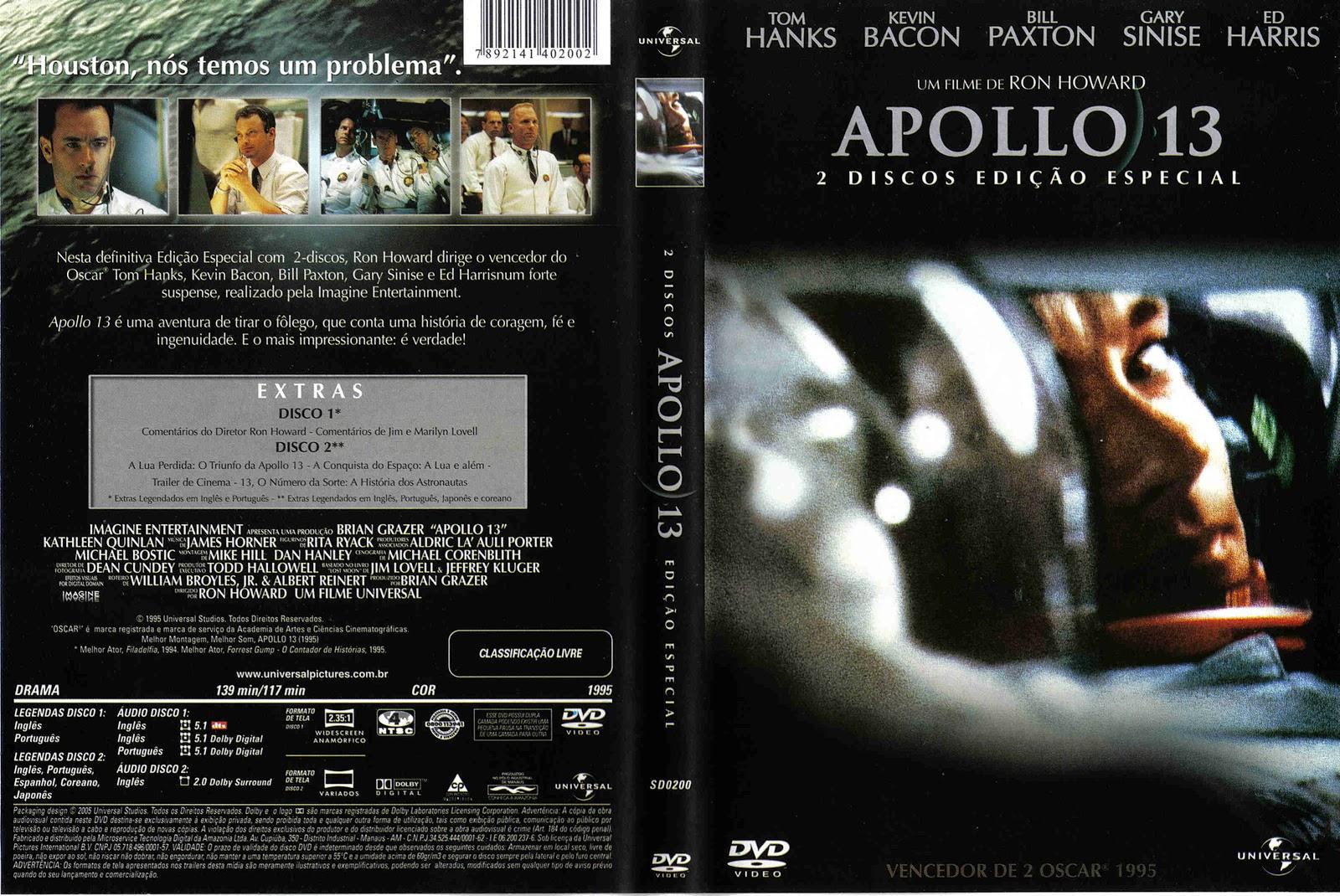 Capa DVD Apollo 13 2 Disco Edição Especial