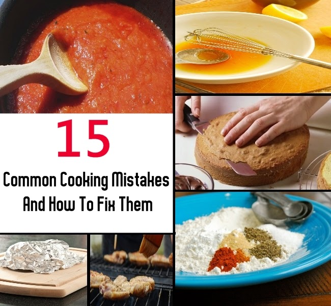 15 Common Cooking Mistakes And How To Fix Them