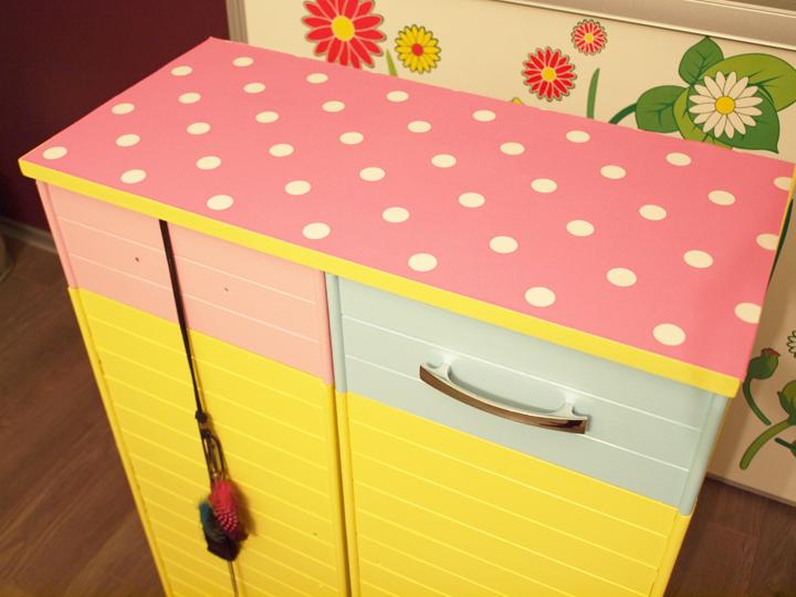 Sirop de fraise blog lifestyle et diy d tourner du papier peint quo - Papier peint pour meuble ...