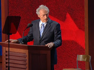Clint Eastwood talking to  Obama chair Republican National Convention RNC