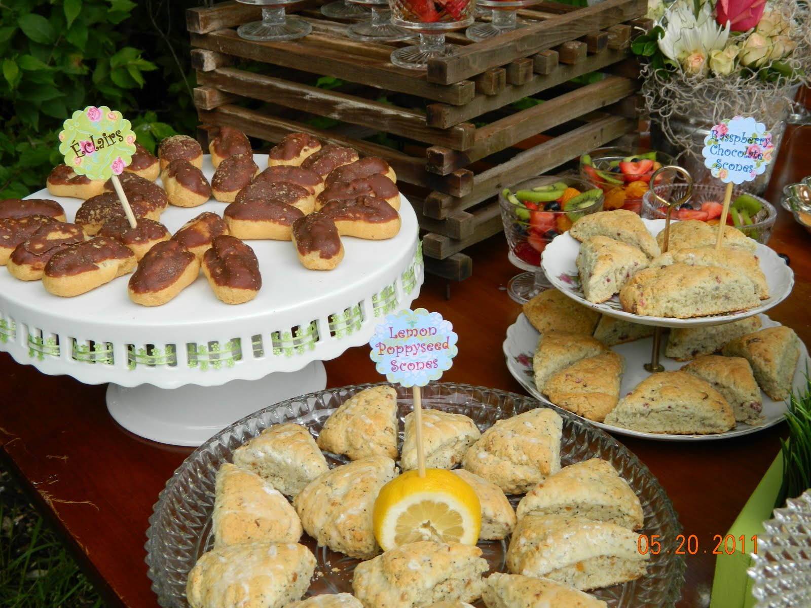 back gallery for baby shower brunch food menu