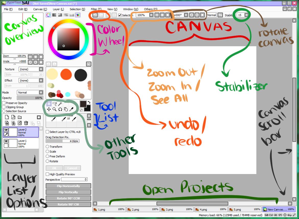 Paint Tool Sai  Full Screen Mode
