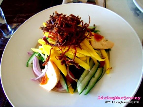 Ensaladang Pako with Fried Itik Floss