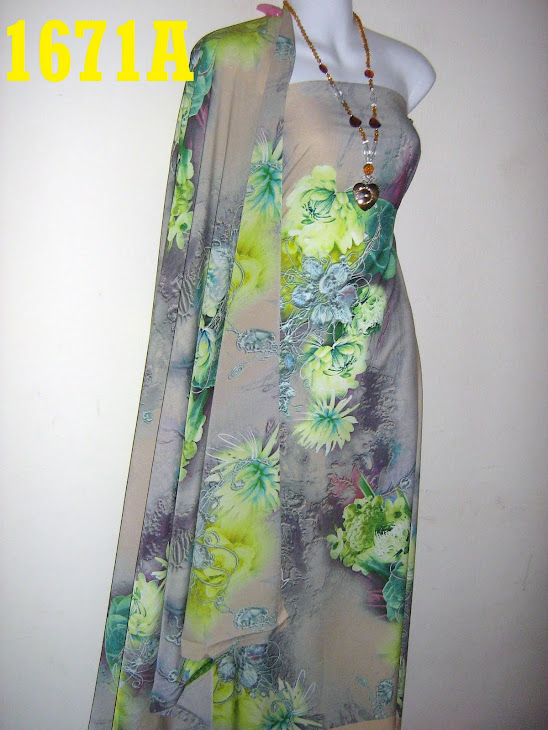 CS 1671A: 100% CREPE SILK ITALIAN, 4 METER, EXCLUSIVE DESIGN, SEJUK DAN SGT CANTIK