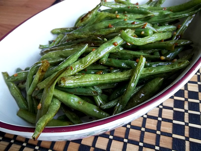 Roasted Sesame Ginger Green Beans: Your Recipe, My Kitchen
