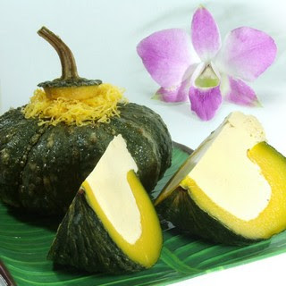 How to make Thai dessert with microwave-Custard in pumpkin