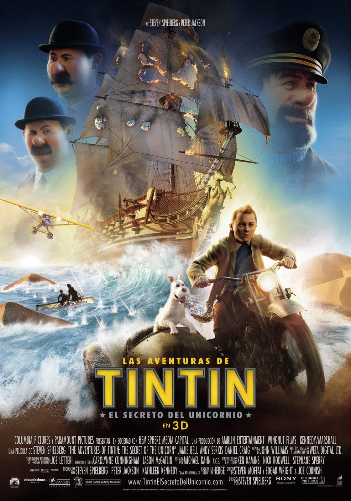 ... español de 'Las aventuras de Tintín: El Secreto del Unicornio