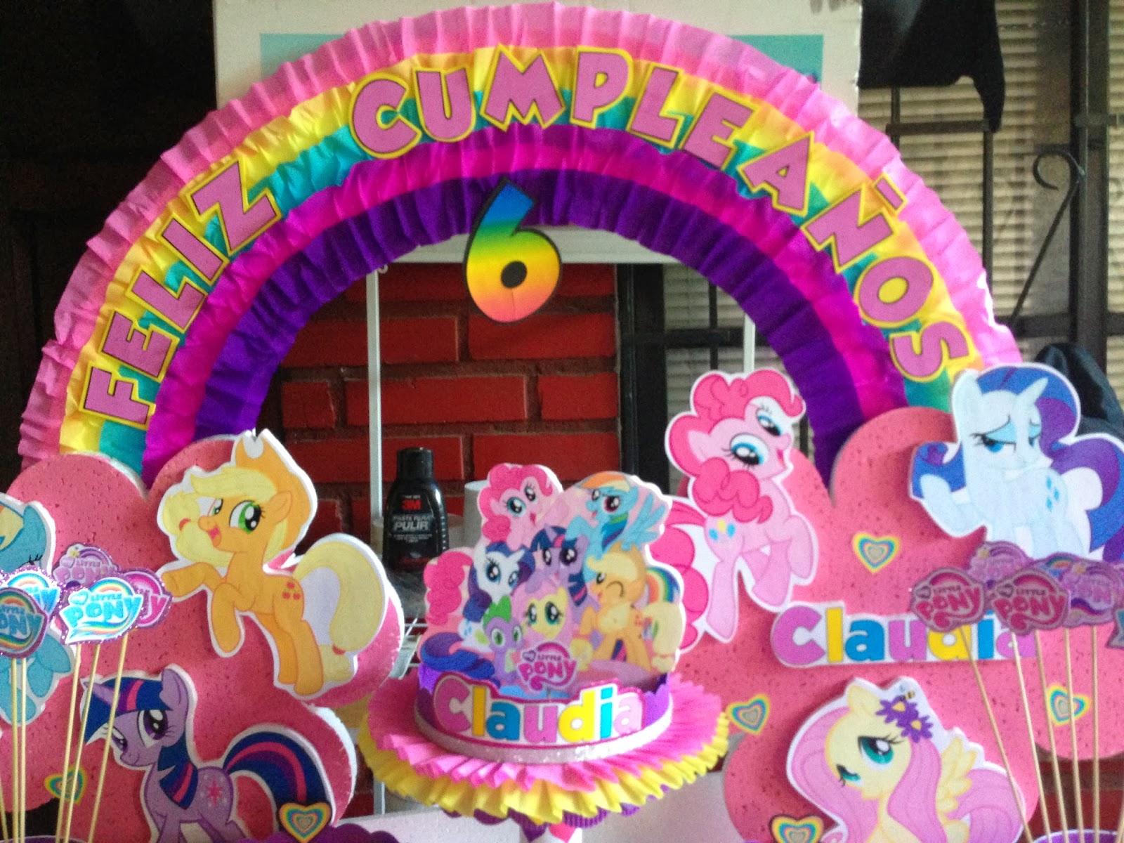 Decoraciones infantiles my little pony for Decoraciones infantiles