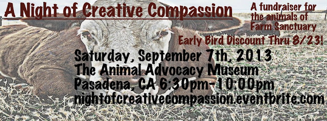A Night of Creative Compassion Farm Sanctuary Fundraiser