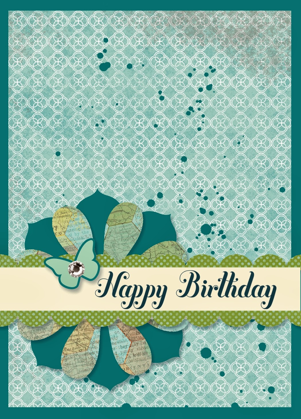 Emergency Birthday Card created with My Digital Studio (MDS) by UK Demonstrator Bekka Prideaux - check out her blog here