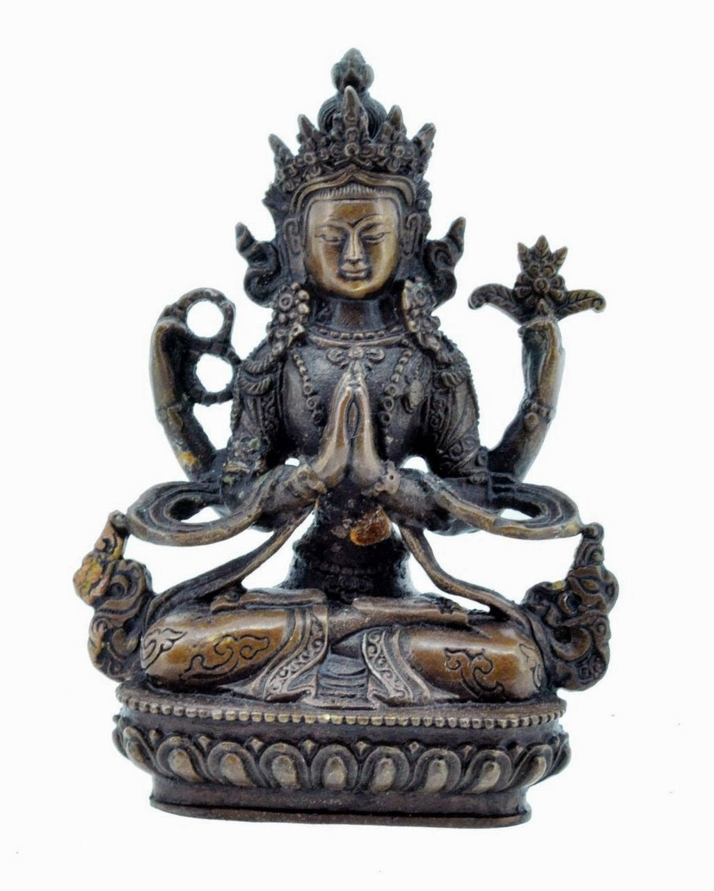 Chenrezig Statue, 5 Inches