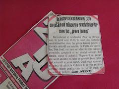 Poza anului 1998 - Primul articol scris de Ioana Popescu in ziarul ZIUA