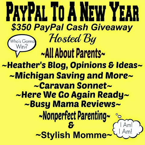 Enter the $350 PayPal Cash Giveaway. Ends 1/30
