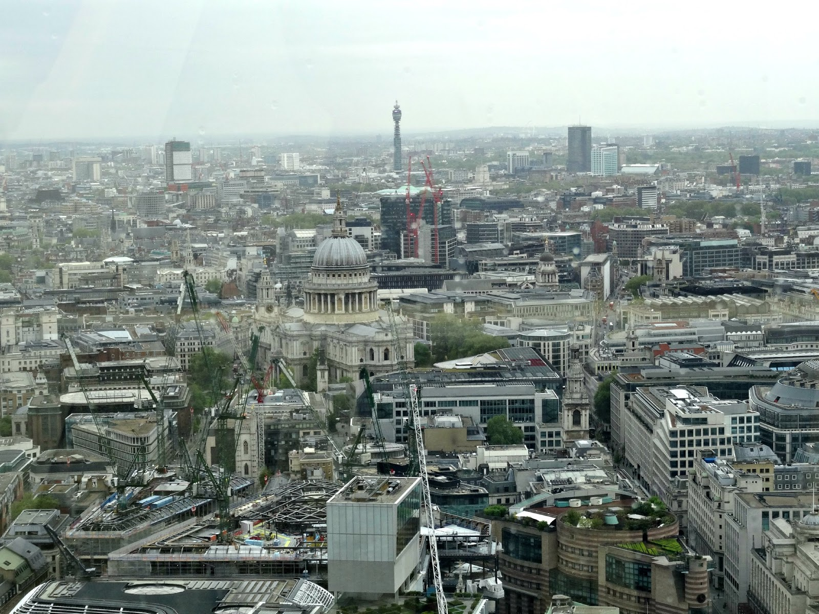 St Pauls view from Sky Garden London