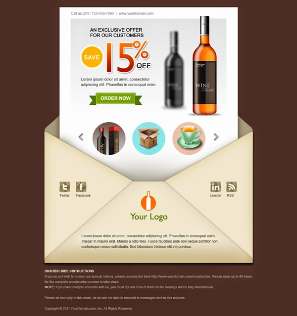 Creative Email Newsletter Template PSD