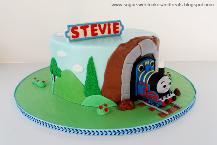 Thomas  Train Birthday Cake on Thomas The Train Cake