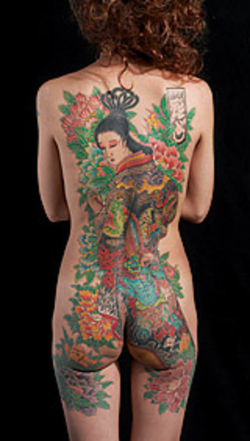 back piece tattoos for girls