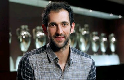 Diego Lopez at the Trophies Room of the Bernabeu Stadium